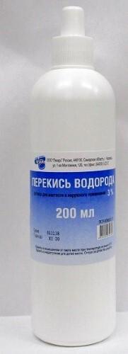 Купить Перекись водорода 3% 200мл флак р-р д/мест наруж прим/лекарь цена
