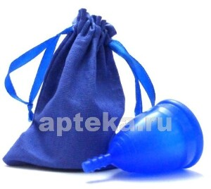 Купить Менструальная чаша серия лен размер s/синяя цена
