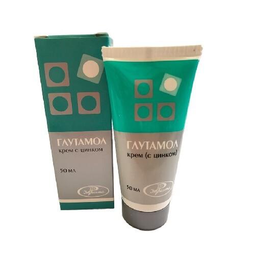 Купить Глутамол крем с цинком 50мл цена