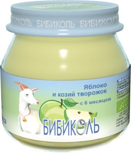 Пюре фруктово-молочное яблоко и козий творожок 80,0