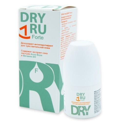Купить Dryru forte дезодорант-антиперспирант для чувствительной кожи 50мл цена