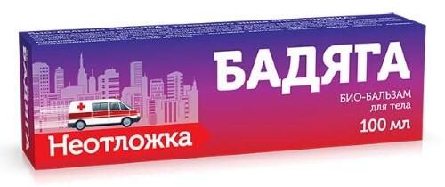 Купить Неотложка био-бальзам бадяга 100мл цена