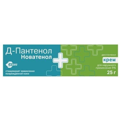 Купить Д-пантенол новатенол 5% 25,0 крем д/наруж прим цена