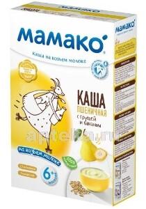 Каша пшеничная с грушей и бананом на козьем молоке 200,0