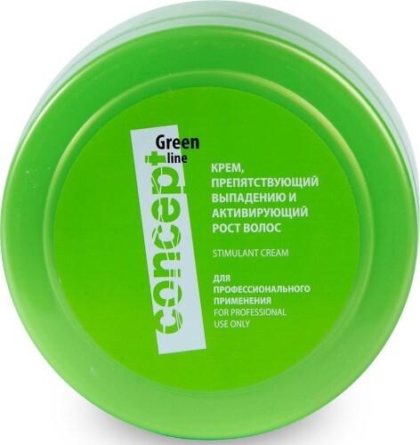 Купить Green line крем препятствующий выпадению и активирующий рост волос 300мл цена