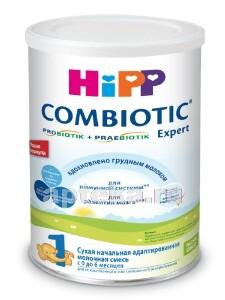 Купить Hipp 1 combiotic expert смесь молочая адаптированная сухая 350,0 цена