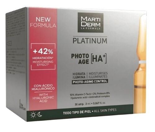 Купить Platinum ампулы коррекция фотостарения гиалуроновая кислота+ 2мл n30 цена