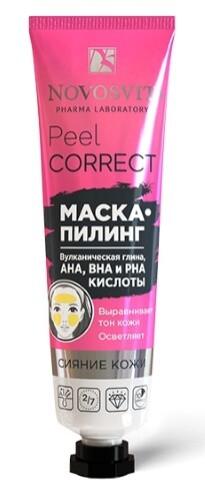 Купить Peel correct маска-пилинг вулканическая глина aha bha pha кислоты 40мл цена
