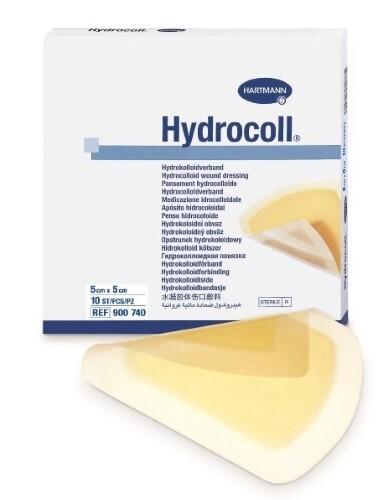 Повязки гидроколлоидные hydrocoll/гидроколл 5х5см n10