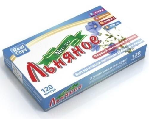 Купить Масло льняное первый холодный отжим 0,25 n120 капс/реалкапс/ цена