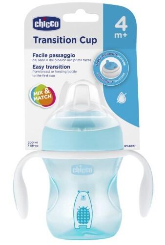 Купить Transition cup поильник 4+ 200мл/голубой цена