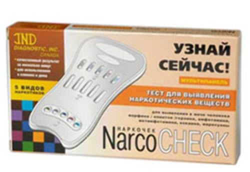 Тест мультипанель narcocheck 5 видов наркотиков