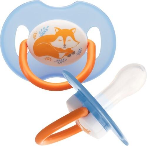 Купить Пустышка силиконовая каплевидная лисенок 0+ n1/13076 цена