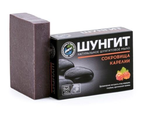 Купить Шунгит натуральное шунгитовое мыло сокровища карелии 100,0 цена