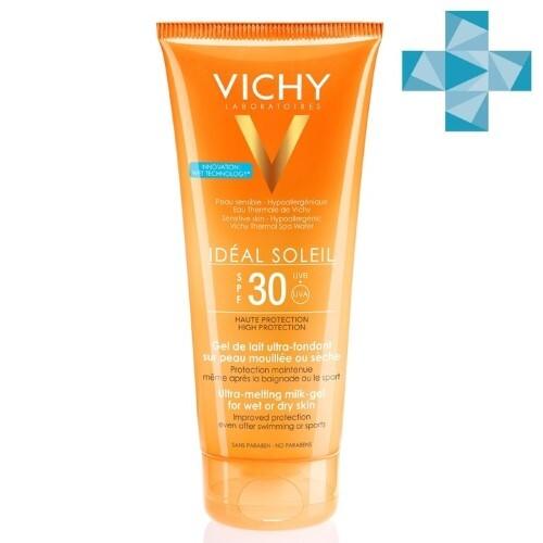 Купить Ideal soleil эмульсия солнцезащитная тающая с технологией нанесения на влажную кожу spf30 200мл цена