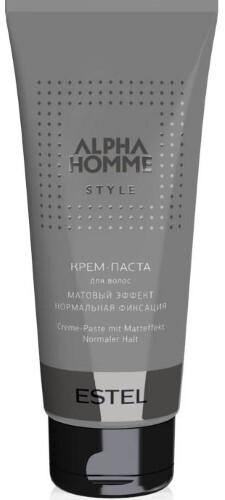 Купить Professional alpha homme крем-паста для волос с матовым эффектом нормальная фиксация 100мл цена