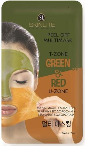 Купить Мультимаска-пленка красные водоросли + зеленые водоросли 7мл+7мл цена