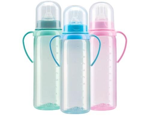 Купить Бутылочка полипропиленовая с ручками и силиконовой соской 6+ 250мл /11133 цена