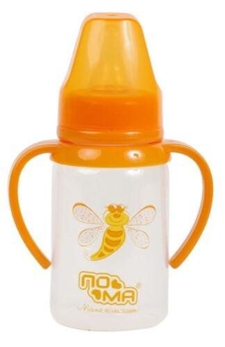 Купить Бутылочка полипропиленовая с ручками силиконовая соска 4+ 140мл/2910 цена