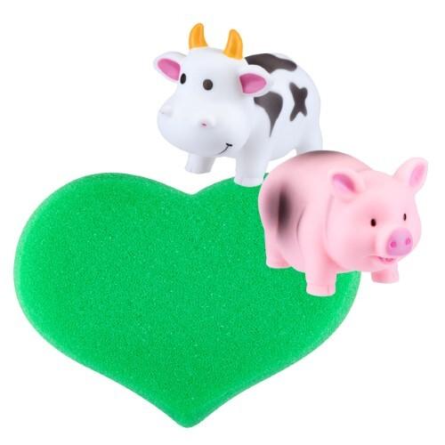 Купить Набор курносики со скидкой 10%: мочалка мягкая + 2 игрушки для ванной цена
