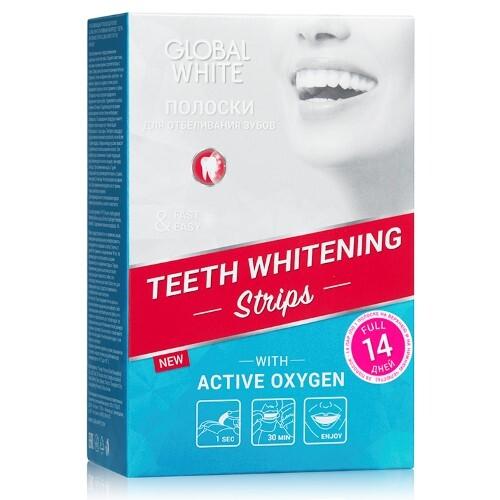Купить Полоски отбеливающие для зубов активный кислород n14 пар цена