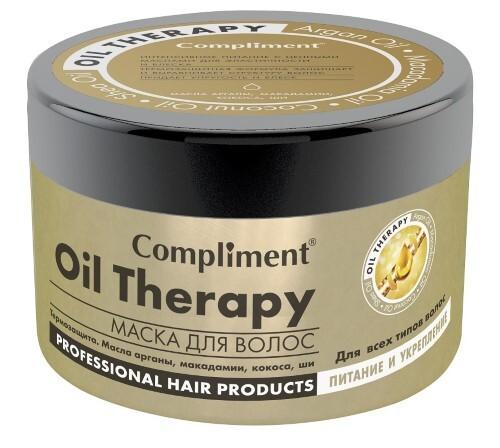 Купить Маска для волос oil therapy с маслом арганы макадамии кокоса ши для всех типов волос питание и укрепление 500мл цена