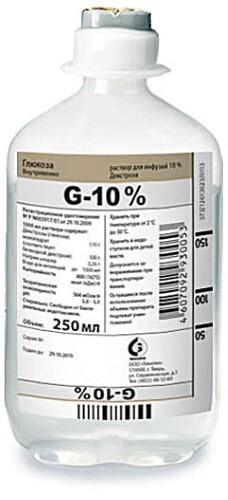 Купить Глюкоза 10% 250мл n10 флак р-р д/инф цена