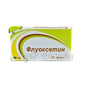 Купить Флуоксетин 0,02 n20 капс цена