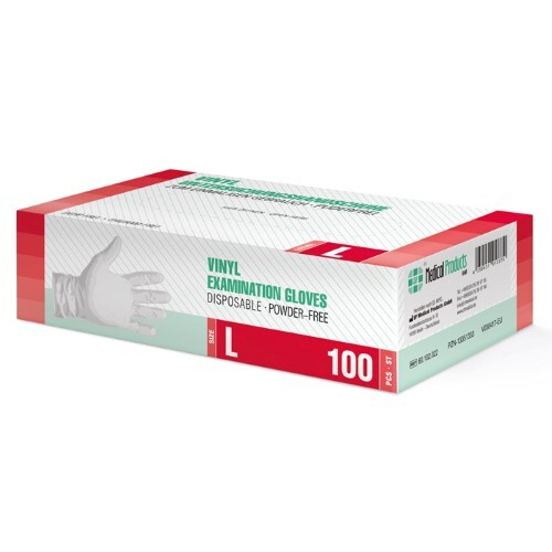 Купить Перчатки диагностические sf gloves виниловые нестерильные неопудренные n50 пар l цена