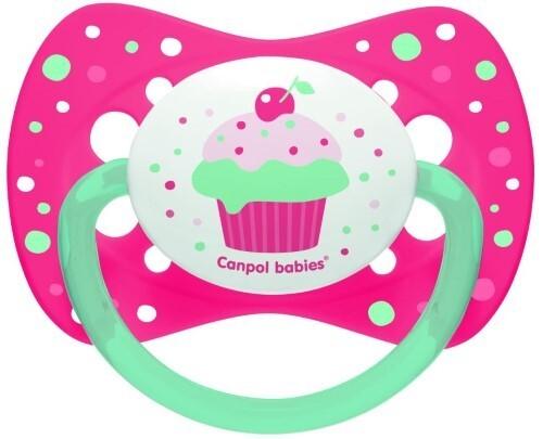 Купить Соска-пустышка силиконовая cupcake 6-18мес /розовая цена