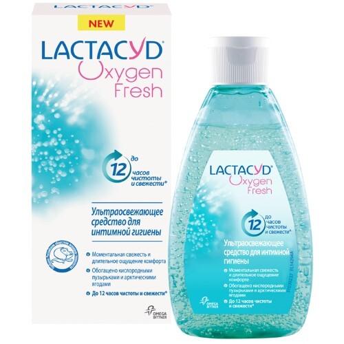Купить Lactacyd oxygen гель для интимной гигиены кислородная свежесть 200мл цена