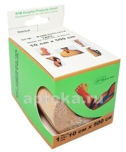 Купить Лента кинезиологическая sfm-plaster на хлопковой основе в рулоне 10х500см n1/бежевый/кинезио тейп цена