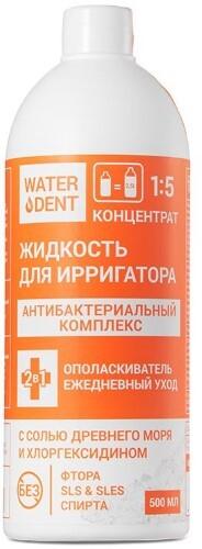 Купить Жидкость для ирригатора+ополаскиватель ежедневный уход антибактериальный комплекс 500мл цена