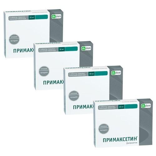 Купить Набор из 4 уп. по цене 3х - примаксетин 0,03 n6 табл п/плен/оболоч цена