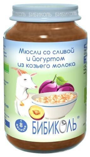 Купить Пюре фруктово-молочное зерновое мюсли со сливой и йогуртом из козьего молока 190,0 цена