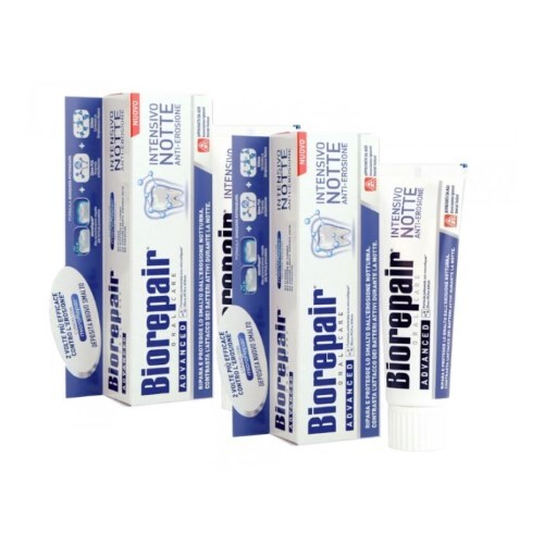 Купить Набор biorepair зубная паста интенсивное ночное восстановление 75мл из 2-х уп по специальной цене цена