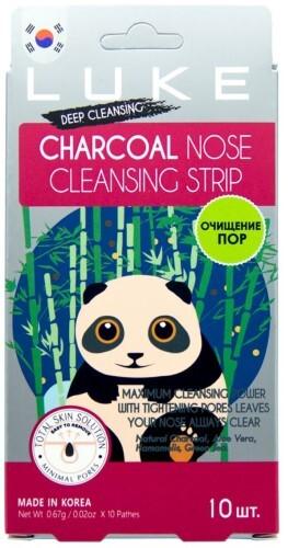 Купить Полоски очищающие угольные от черных точек charcoal nose cleansing strip n10 цена