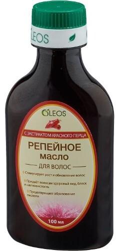 Купить Масло репейное с экстрактом красного перца 100мл цена