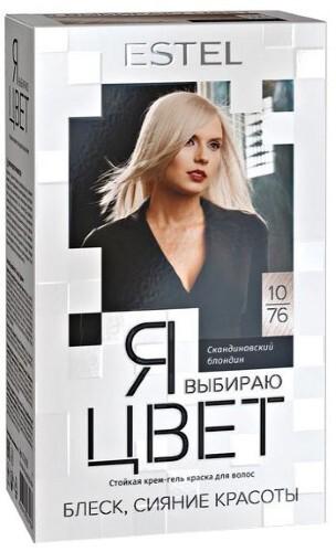 Купить Я выбираю цвет стойкая крем-гель краска для волос тон 10/76 скандинавский блондин цена
