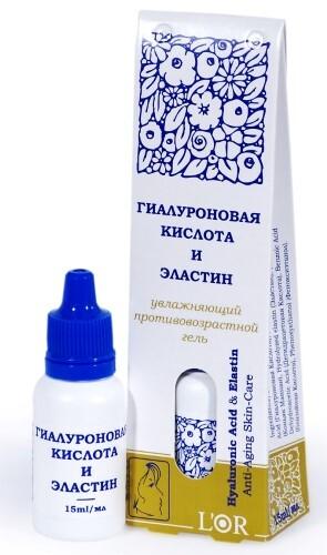 Купить Lor гиалуроновая кислота и эластин гель15мл цена