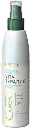 Купить Curex therapy двухфазный лосьон-спрей vita-терапия для поврежденных волос 200мл цена
