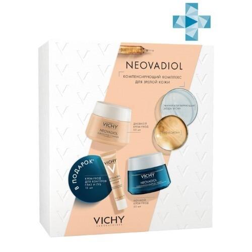 Купить Набор neovadiol/компенсирующий комплекс дневной 50мл+комплекс ночной+комплекс для контуров глаз и губ 15мл/ цена