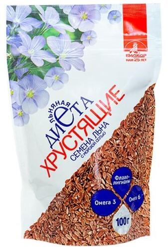 Купить Семена льна хрустящие биокор с морской солью цена
