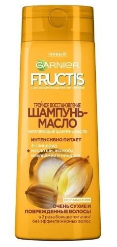 Купить Fructis тройное восстановление шампунь-масло 250мл цена