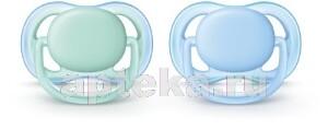 Avent пустышка силиконовая ultra air для мальчиков 0-6мес n2 scf244/20