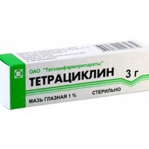 Купить Тетрациклин 1% 3,0 гл мазь цена