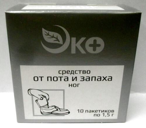 Купить Средство от пота и запаха ног эко n10 пакетов цена
