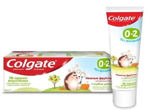 Купить Зубная паста детская 0-2 без фторида 40мл/нежные фрукты цена