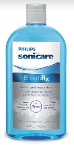 Купить Sonicare ополаскиватель для полости рта антибактериальный без спирта breathrx 473мл цена