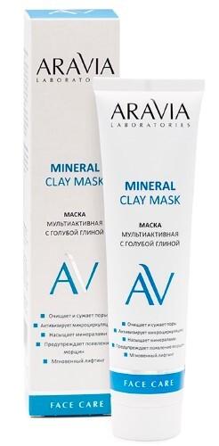 Купить Маска мультиактивная с голубой глиной mineral clay mask 100мл цена